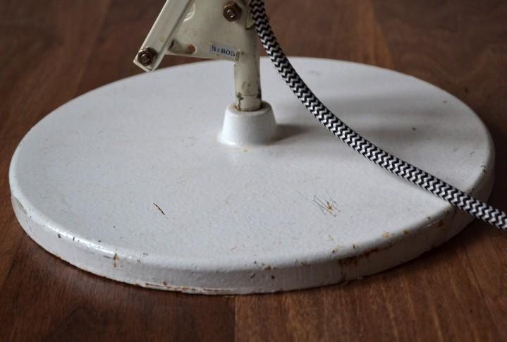 Large White Anglepoise Lamp Vintro