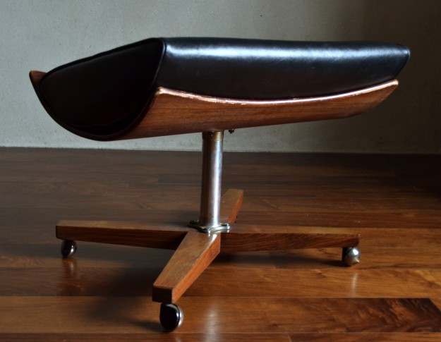 Black Foot Stool Other Vintro